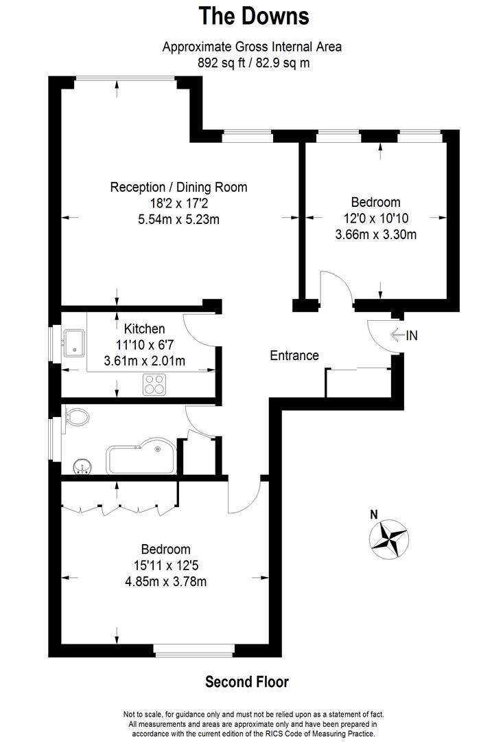 Floorplan for Upton Court, The Downs, Wimbledon